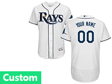 Mens Mlb Tampa Bay Rays (custom Made) White Flex Base Jersey