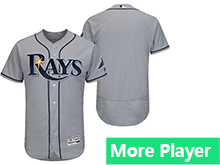 Mens Mlb Majestic Tampa Bay Rays Gray Flex Base Current Player Jersey