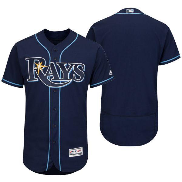 Mens Mlb Tampa Bay Rays (custom Made) Navy Blue Flex Base Jersey