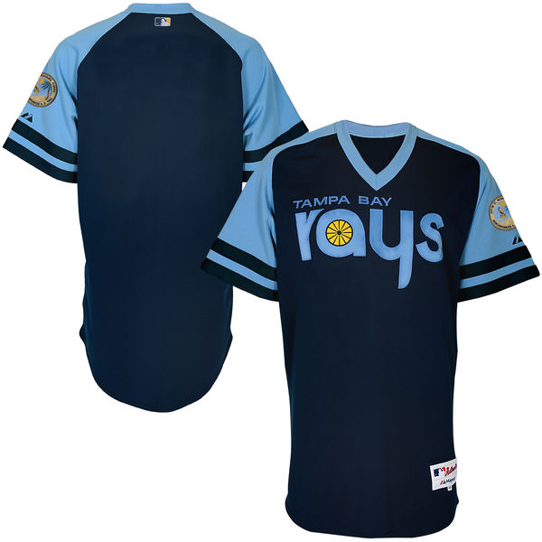 Mens Mlb Tampa Bay Rays Custom Made Navy 1978 Turn Back The Clock Cool Base Jersey