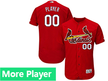 Mens Majestic St. Louis Cardinals Red Flex Base Current Player Jersey