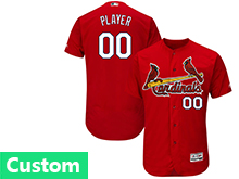 Mens Mlb St.louis Cardinals Custom Made Red Flex Base Jersey