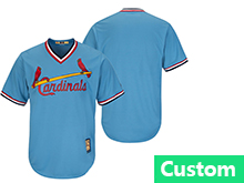 Mens Mlb St. Louis Cardinals Custom Made Blue Pullover Throwbacks Jersey