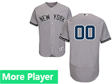 Mens Majestic New York Yankees Gray Flex Base Current Player Jersey