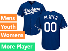 Mens Womens Youth Majestic Los Angeles Dodgers Blue Cool Base Current Player Jersey