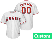 Mens Womens Youth Mlb Los Angeles Angels Custom Made White Cool Base Jersey