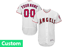 Mens Mlb Los Angeles Angels Custom Made White Flex Base Jersey