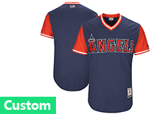 Mens Mlb Los Angeles Angels Custom Made Navy 2017 Players Weekend Jersey