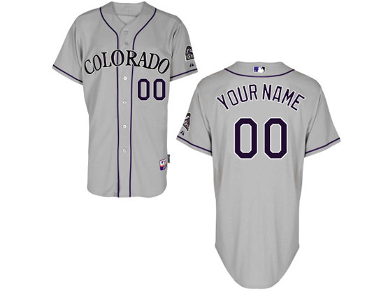 Mens Womens Youth Majestic Colorado Rockies Gray Cool Base Current Player Jersey