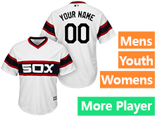 Mens Womens Youth Majestic Chicago White Sox White Cool Base Current Player Jersey