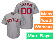Mens Womens Youth Majestic Boston Red Sox Gray Cool Base Current Player Jersey