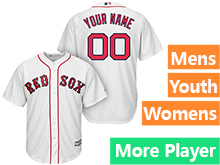 Mens Womens Youth Majestic Boston Red Sox White Cool Base Current Player Jersey