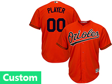Mens Womens Youth Mlb Baltimore Orioles Custom Made Orange Cool Base Jersey