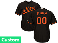 Mens Womens Youth Mlb Baltimore Orioles Custom Made Black Cool Base Jersey