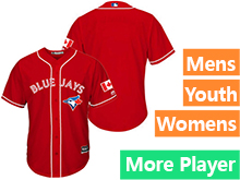 Mens Women Youth Majestic Toronto Blue Jays Red Cool Base Current Player Jersey