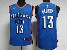 Mens Nba Oklahoma City Thunder #13 Paul George Blue Nike Jersey