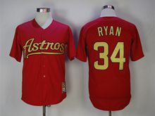 Mens Majestic Pittsburgh Pirates #34 Nolan Ryan Red Turn Back Jersey