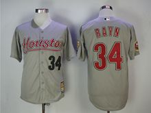 Mens Majestic Pittsburgh Pirates #34 Nolan Ryan Gray Turn Back Jersey