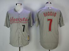 Mens Majestic Pittsburgh Pirates #7 Craig Biggio Gray Turn Back Jersey