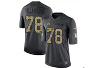 Mens Nfl Pittsburgh Steelers #78 Alejandro Villanueva Black Anthracite 2016 Salute To Service Jersey