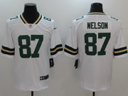Mens Nfl Green Bay Packers #87 Jordy Nelson White Vapor Untouchable Limited Jersey