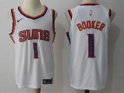 Mens Nba Phoenix Suns #1 Devin Booker White Home Nike Jersey