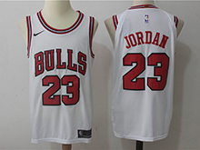 Mens Nba Chicago Bulls #23 Michael Jordan Bulls White Nike Jersey
