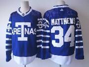 Mens Adidas Nhl Toronto Maple Leafs #34 Auston Matthews Big T Blue Home Hockey Jersey