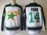 Mens Nhl Dallas Stars #14 Jamie Benn White Stars Throwbacks Ccm Jersey