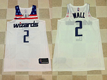 Mens Nba Washington Wizards #2 John Wall White Nike Thick Stitch Jersey