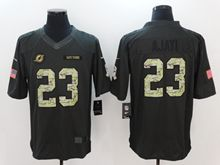 Mens Nfl Miami Dolphins #23 Ajayi Black Anthracite Salute To Service Limited Jersey