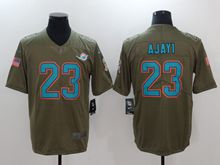 Mens Nfl Miami Dolphins #23 Ajayi Green Olive Salute To Service Limited Nike Jersey