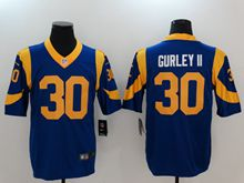 Mens Los Angeles Rams #30 Todd Gurley Ii Blue Vapor Untouchable Limited Jersey