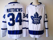 Mens Nhl Toronto Maple Leafs #34 Auston Matthews White Hockey Adidas Jersey