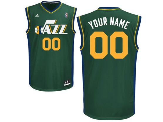 Mens Nba Utah Jazz Custom Made Green Alternate Adidas Jersey