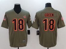 Mens Youth Nfl Cincinnati Bengals #18 A.j.green Green Olive Salute To Service Limited Nike Jersey