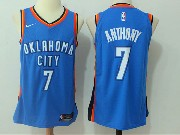 Mens Nba Oklahoma City Thunder #7 Carmelo Anthony Blue Nike Jersey