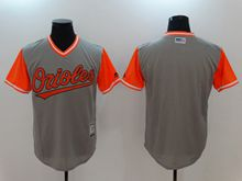 Mens Majestic Baltimore Orioles Blank Majestic Gray 2017 Players Weekend Authentic Jersey