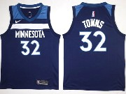 Mens Nba Minnesota Timberwolves #32 Karl-anthony Towns Blue Nike Jersey
