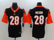 Mens Nfl Cincinnati Bengals #28 Joe Mixon Black Color Rush Limited Jersey
