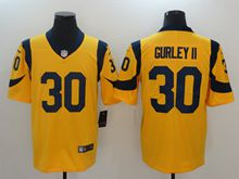 Mens Los Angeles Rams #30 Todd Gurley Ii Gold Nike Vapor Untouchable Color Rush Limited Player Jersey