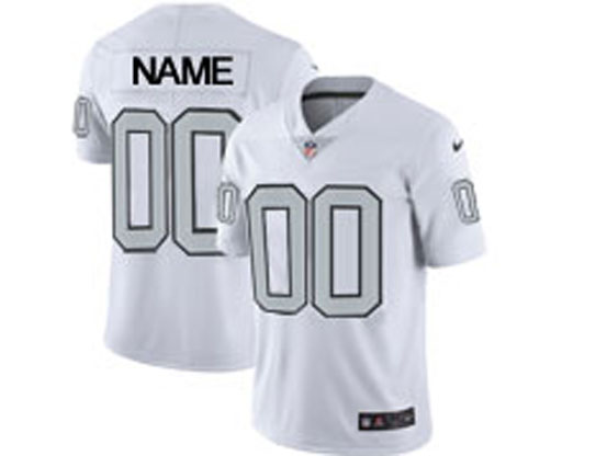 Mens Women Youth Nfl Oakland Raiders Custom Made White Vapor Untouchable Color Rush Limited Player Jersey