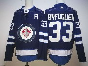 Mens Nhl Winnipeg Jets #33 Dustin Byfuglien Dark Blue Adidas Jersey