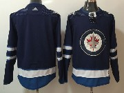 Mens Nhl Winnipeg Jets Blank Dark Blue Adidas Jersey