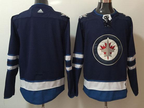 Mens Nhl Winnipeg Jets Blank Dark Blue Adidas Jersey