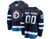 Mens Nhl Winnipeg Jets Custom Made Dark Blue Adidas Jersey