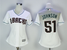 Women Mlb Arizona Diamondbacks #51 Randy Johnson 2017 New White Jersey