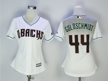 Women Mlb Arizona Diamondbacks #44 Paul Goldschmidt 2017 New White Jersey