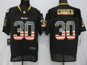 Mens Nfl Pittsburgh Steelers #30 James Conner Gray (2014 Usa Flag Fashion) Elite Jersey