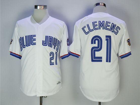 Mens Mlb Toronto Blue Jays #21 Clemens White Jersey